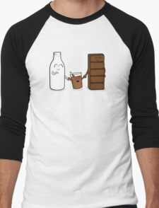 Milk + Chocolate Men's Baseball ¾ T-Shirt