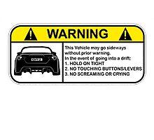 Subaru BRZ Warning Sticker by fadouli