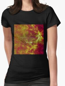 Spinning the Cosmic Web in a Supercomputer Womens Fitted T-Shirt
