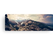 The Tatra Mountains. Panorama of polish mountains during spring. Vintage sepia colors Canvas Print