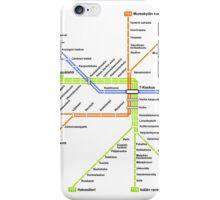 Linjakartta Tunnelirata iPhone Case/Skin