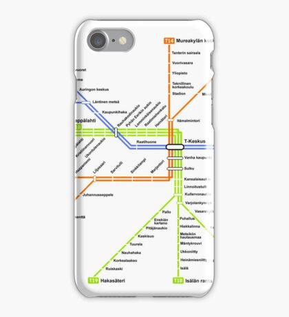 Linjakartta Tunnelirata iPhone Case/Skin