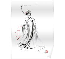Geisha poster, Japanese painting home decor art print Poster