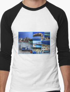 Collage/Postcard from Albania 4 - Travel Photography Men's Baseball ¾ T-Shirt
