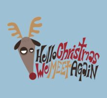 Tired Christmas Reindeer Kids Clothes