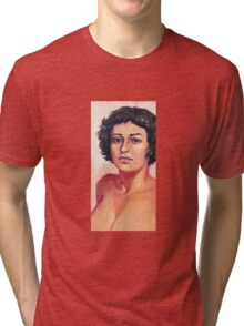 Portrait of Elisa Tri-blend T-Shirt