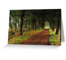 When the leaves start falling Greeting Card