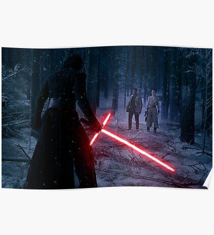 Star Wars - Kylo VS Rey & Finn Poster