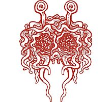 Flying Spaghetti Monster (tomato sauce) Photographic Print
