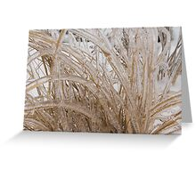 Icy Grass Sculptures Greeting Card