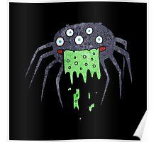 gross halloween spider Poster