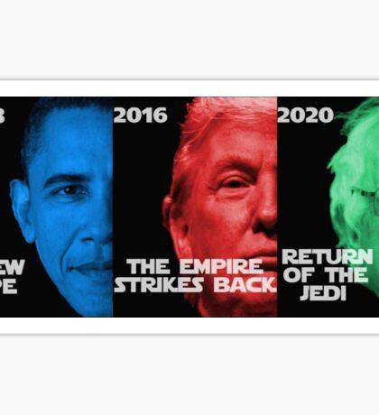 Star Wars Trilogy - Obama, Trump, Bernie  Sticker