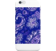 Beautiful Blue Paisley Design iPhone Case/Skin