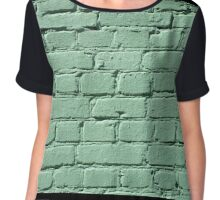 Fragment of a green brick wall  Chiffon Top