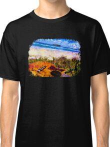 Fingal Beach Surf Guitar Classic T-Shirt