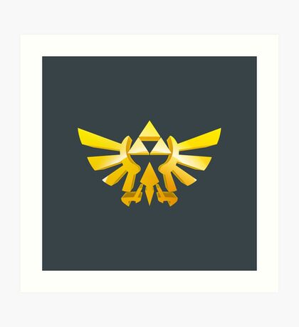 Zelda Triforce 3D Wingcrest Art Print