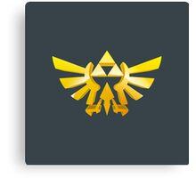 Zelda Triforce 3D Wingcrest Canvas Print