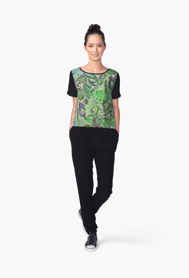 'Plain Paisley B' Women's Chiffon Top by yonni