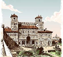 View of Villa Borghese in Rome by aurielaki