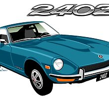 Datsun 240Z turquoise by car2oonz
