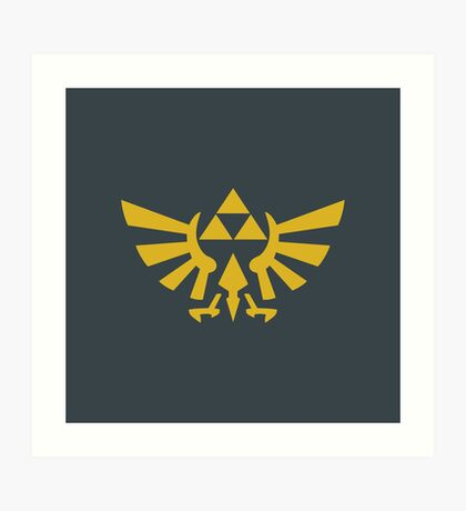 Zelda Triforce 2D Wingcrest Art Print