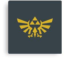 Zelda Triforce 2D Wingcrest Canvas Print