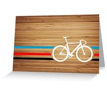 Bike Stripes Velodrome Greeting Card