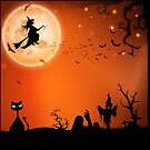 Halloween Antics by Ann  Van Breemen