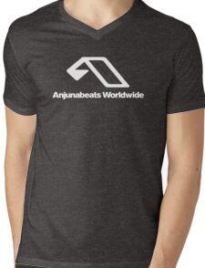 World Wide Beats Record of Anjuna Mens V-Neck T-Shirt