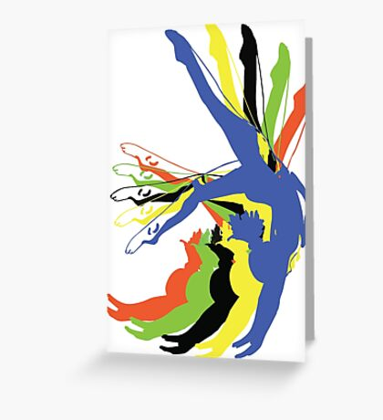 MOTION gymnastics olympic colours Greeting Card