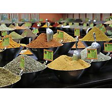 spice stall Photographic Print