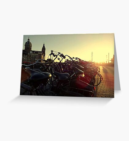 Amsterdam Bicycles  Greeting Card
