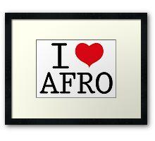 I Love Afro Framed Print
