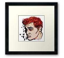 Rainbow Haired Genius Framed Print
