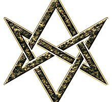 Unicursal hexagram, magic, ritual, spell, magick, symbol by nitty-gritty