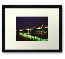 Nighttime Cruise with City Lights in Southern China Framed Print