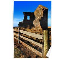 Ruin in Stanley Tasmania Poster
