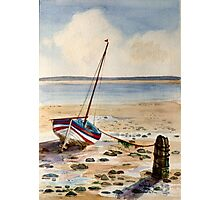 MIZPAH Beached Boat  Photographic Print