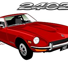 Datsun 240Z red by car2oonz