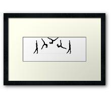 MOTION gymnastics black and white logo Framed Print