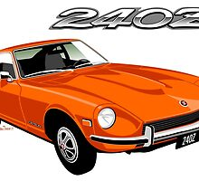 Datsun 240Z orange  by car2oonz