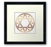 Hexagram, ✡ , Magic, Merkaba, David Star, Solomon Framed Print