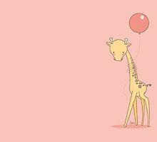 Giraffe and balloon by brendafigueroa