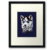 Siberian Husky Puppy Framed Print