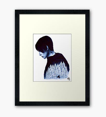 What's Hidden In Snow Framed Print