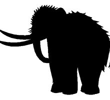 Woolly Mammoth Silhouette by kwg2200