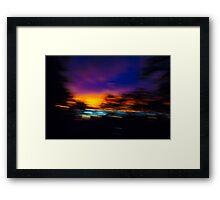Shuddered Sunset Horizon Framed Print