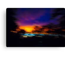 Shuddered Sunset Horizon Canvas Print