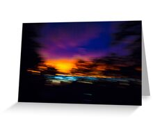 Shuddered Sunset Horizon Greeting Card