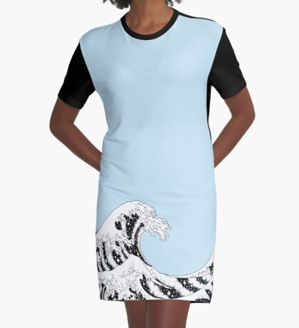 Space Wave Graphic T-Shirt Dress